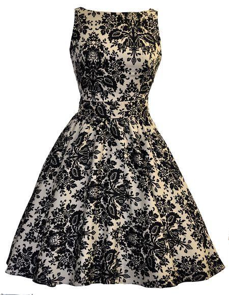 Damask, Pin-up dress- Lady Vintage
