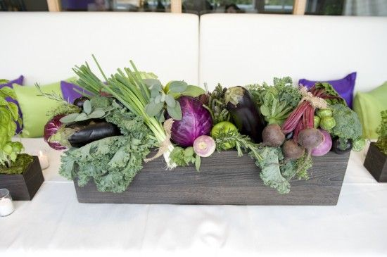 vegetable centerpieces arrangements | Vegetable Wedding Centerpieces 550x365…