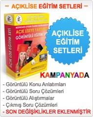 Açıklise Ders Kitapları Görüntülü Eğitim Setleri http://www.goruntulumarket.com/
