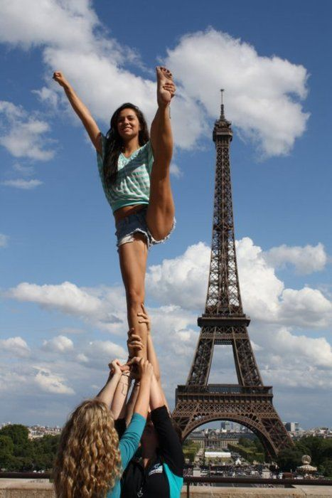 What I loved about cheering: Stunting in random places
