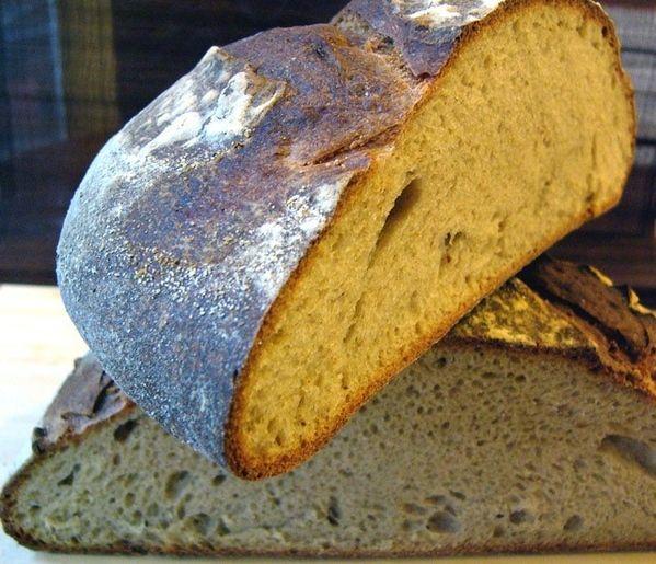 Базовый рецепт французского хлеба на закваске Закваски 125г 350г воды ( у меня ушло ~370г) 350г хлебной муки 120г цельнозерновой муки 30г ржаной муки 10г соли