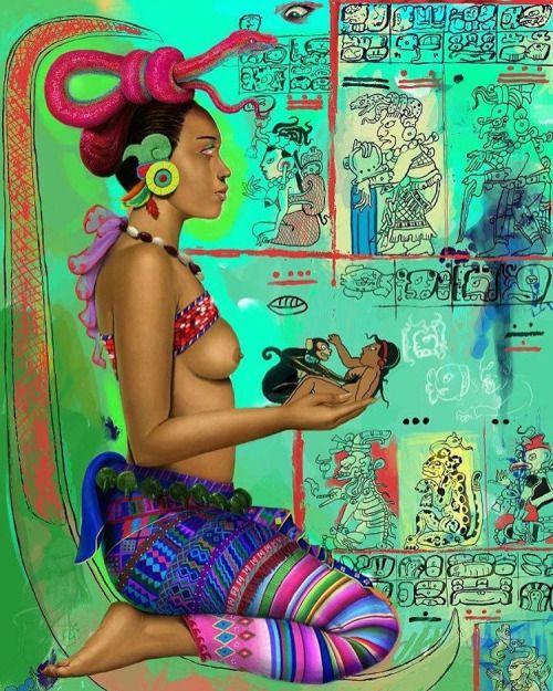 Ixchel, deidad madre de la luna y sus códices #Maya #legend...