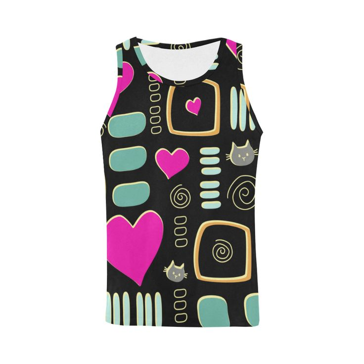 Love Cats All Over Print Tank Top for Men (Model T43)