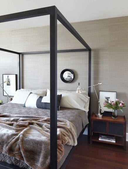 Neal-beckstedt-studio-interiors Looking for a similar four-poster? Take a look at the Orchid bed from Natural Bed Co - http://www.naturalbedcompany.co.uk/shop/classic-beds/orchid-fourposter-bed/