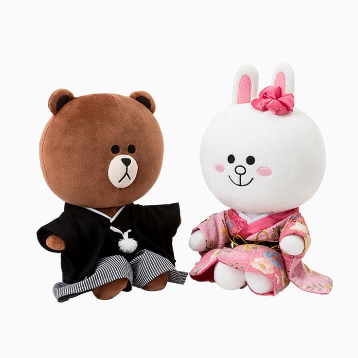 [Limited Edition]Line Friends Global Costume Brown and Cony Doll Package (Japan)