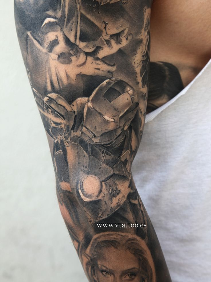 ironman marvel tattoo copia