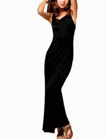 maxi dress: black maxi dress