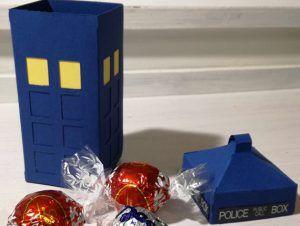 Scatolina porta confetti Tardis Doctor Who realizzata a mano