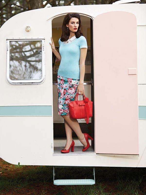 The Hydrangea Rose Skirt ✿ #retrostyle #vintagefashion #50s #60s
