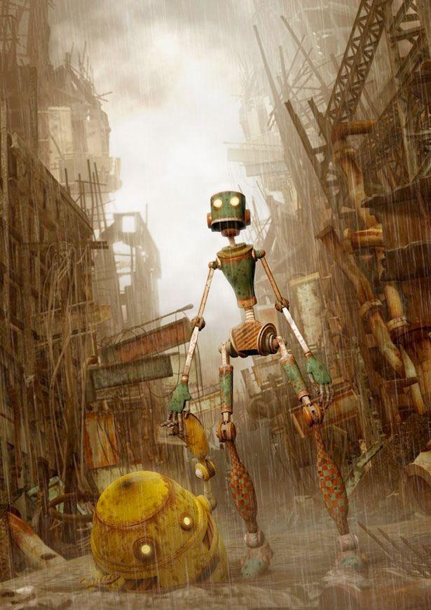 35 Futuristic Illustrations of Robot Art   Webdesigner Depot