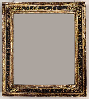 Beautiful 16th century sgraffito frame from The Robert Lehman collection at the Met