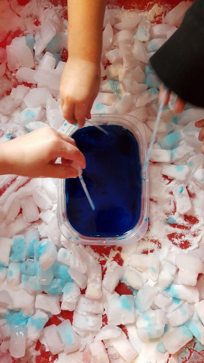 Fizzy Ice Sensory & Science