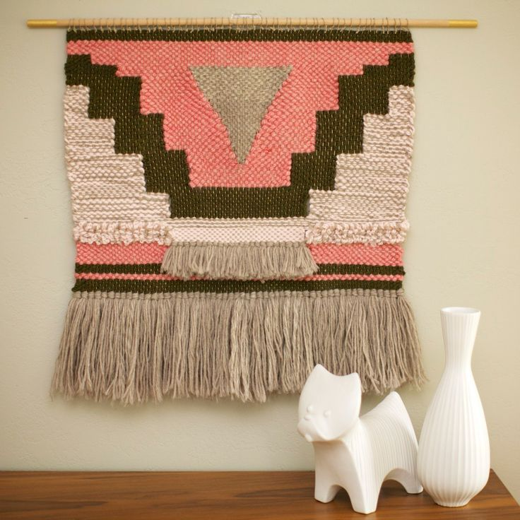 Large Hand Woven Textile Wall Hanging / Boho by SmoothHillsWeaving, $225.00