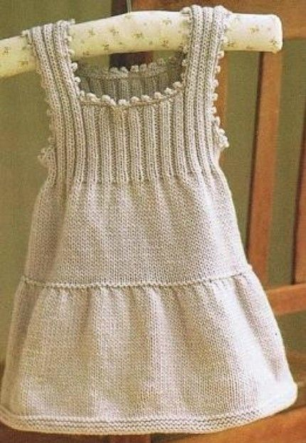 Cashmere Hand Knitted Baby Dress