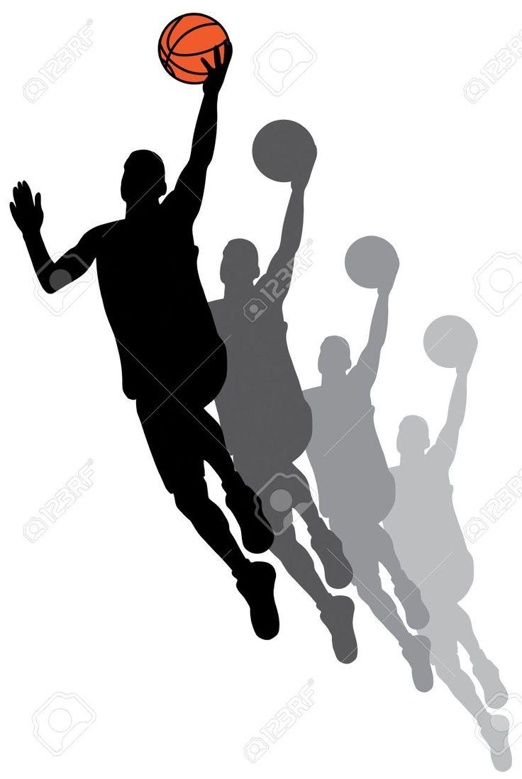 dibujos siluetas baloncesto - Buscar con Google