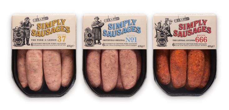 Nice design from Pearlfisher for Simply Sausages