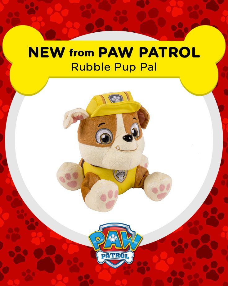 This Rubble plush is cuddly and tough at the same time!