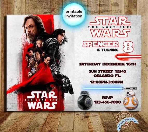 Star Wars The Last Jedi Invitation the last jedi Star Wars