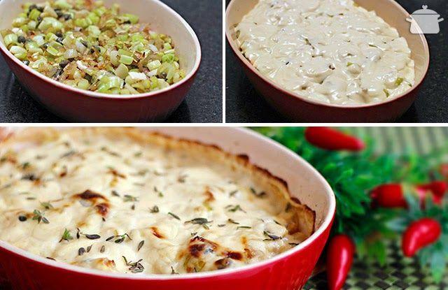 PANELATERAPIA - Blog de Culinária, Gastronomia e Receitas: Tilápia com Alho-poró e Molho Branco
