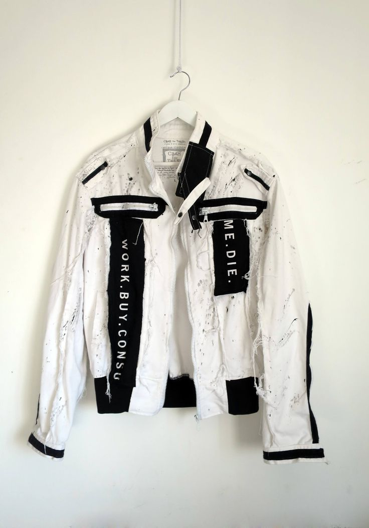 Designer unique male twill / cotton jacket (M/L size) with patches, applications and print by tijanaandmilapopovic on Etsy