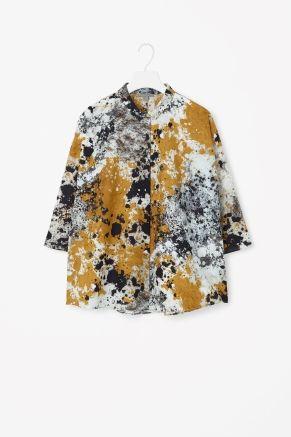 Flared printed shirt