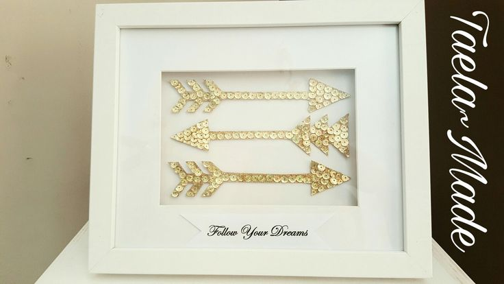 """""""Follow your dreams"""" sequin art. Box framed  DIY craft for the home  Taela-Made"""