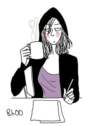 Margaux Motin 8:00 in need of coffee