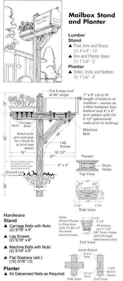 wood-mailbox-post-plans-1.jpg (394×900)