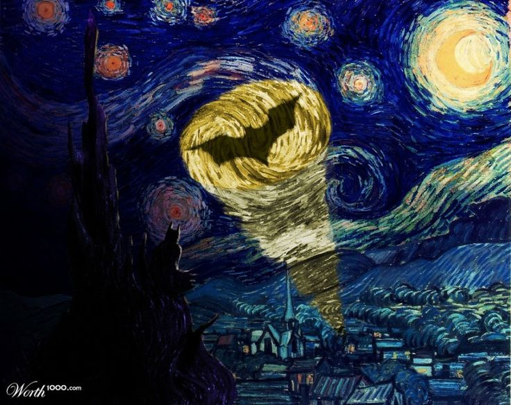 La Bati-señal pintada por Vincent van Gogh.