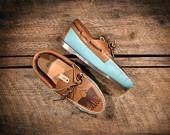 light blue boat shoes