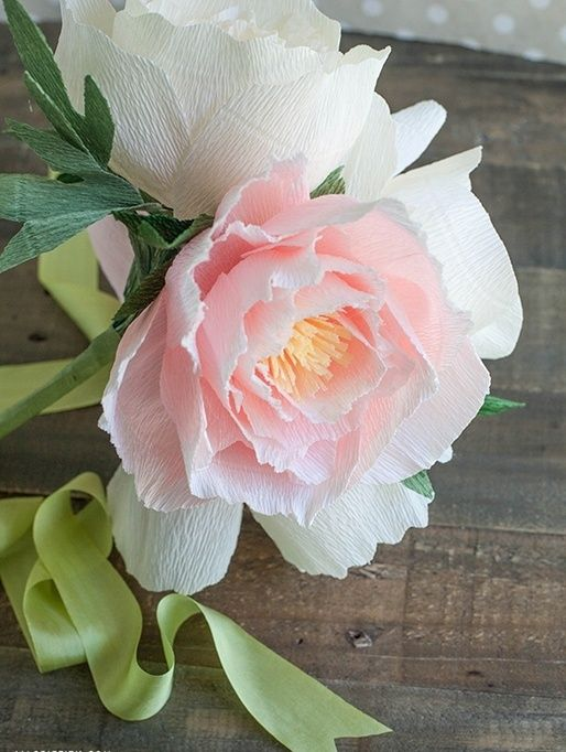 peonies from paper