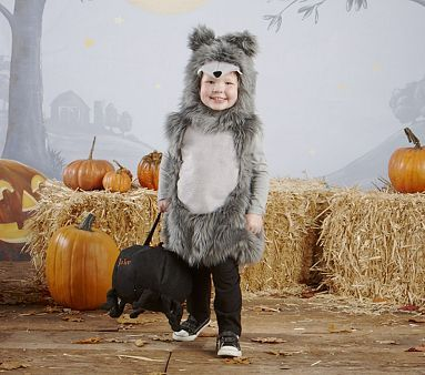 Wolf Costume  -- i think it would be fun to just have for random dress up days... i imagine it with some striped leggings and wellies and claire's adorable face..