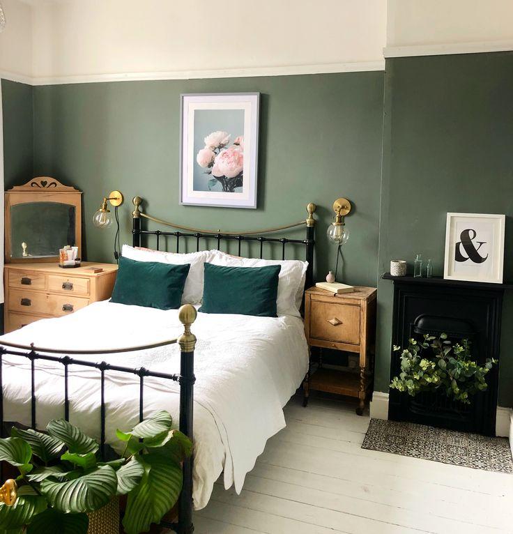 bedroom inspiration  green bedroom walls green master