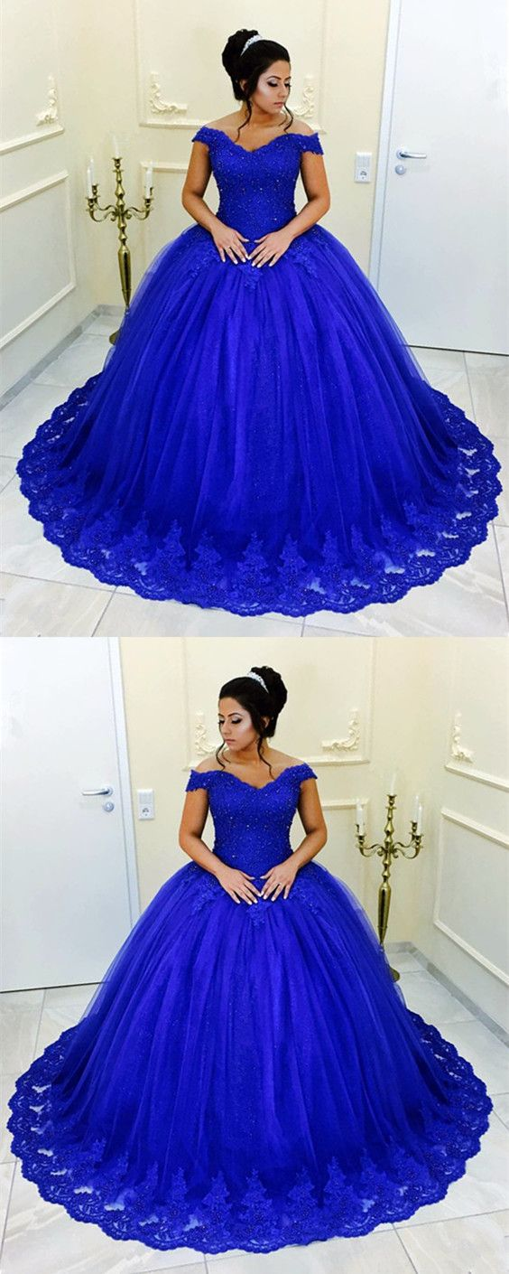 Beaded lace vneck off shoulder tulle ball gowns quinceanera dresses