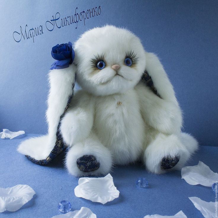 Зайка тедди Василиса из меха искусственная норка. Teddy rabbit Vasilisa made of faux mink fur. #teddy #rabbit #teddy_rabbit #gift_shop_handmade #toys_rabbit #toys_handmade #toys_plush #MEDWEDKO