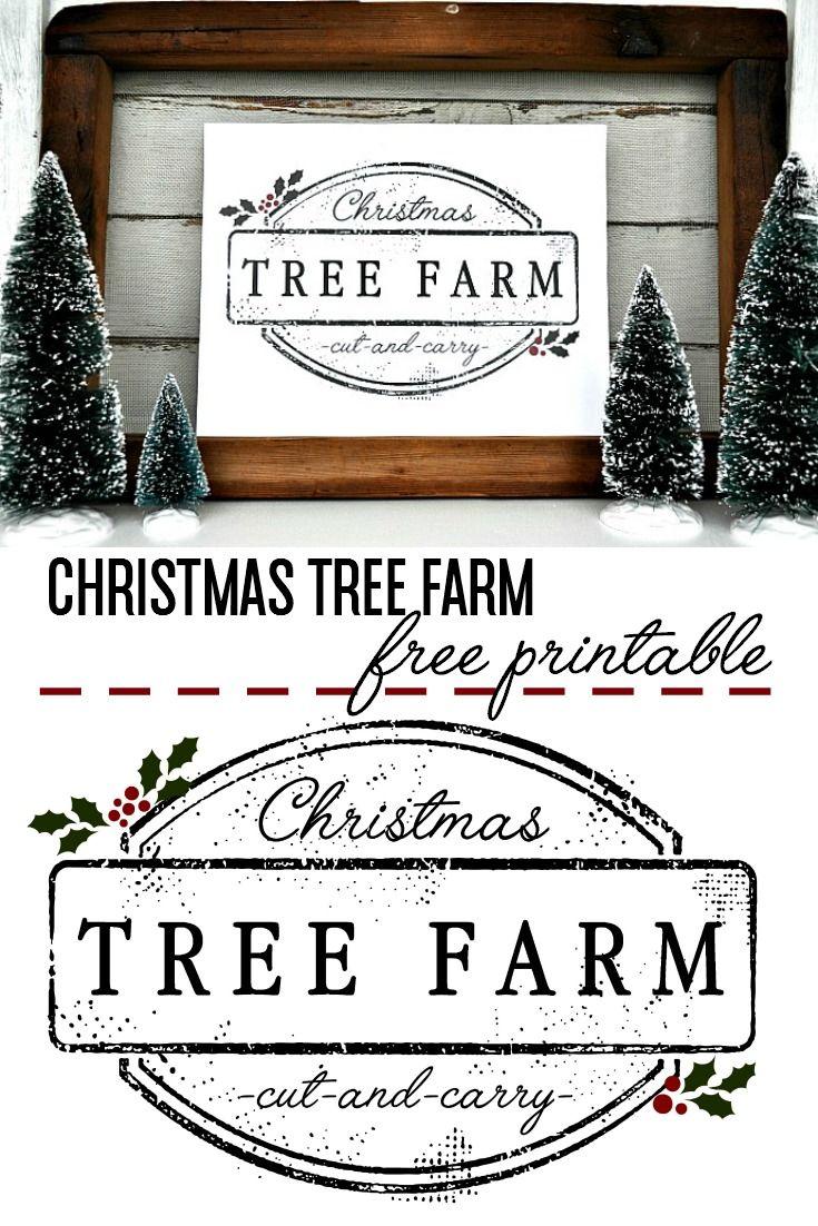 FREE Christmas Tree Farm Printable to add to your holiday décor! #printable #free  #Christmas www.littleglassjar.com