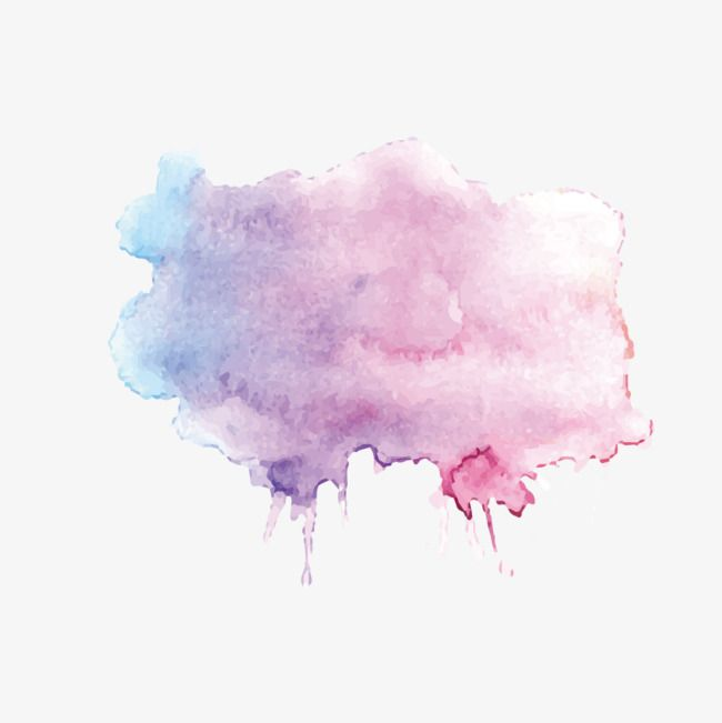 Purple Color Gradient Strokes Brush Effect Salon Logo Design Cute Patterns Wallpaper Watercolor Splash