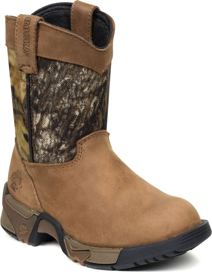 Rocky 3639 Boy's Aztec Wellington Boot Brown/Camo – Go Shop Shoes