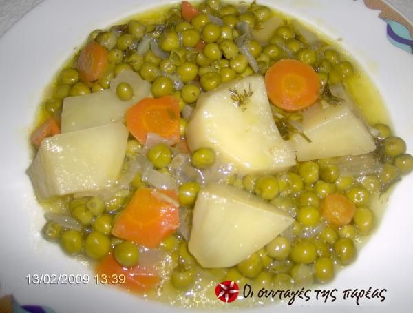 Peas in lemon sauce #cooklikegreeks