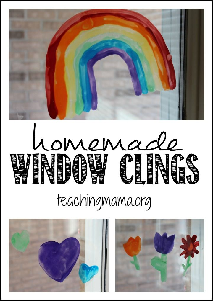 Homemade Window Clings for Spring