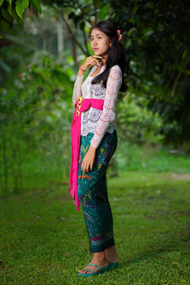 Beautiful balinese girl in a forest - Bali