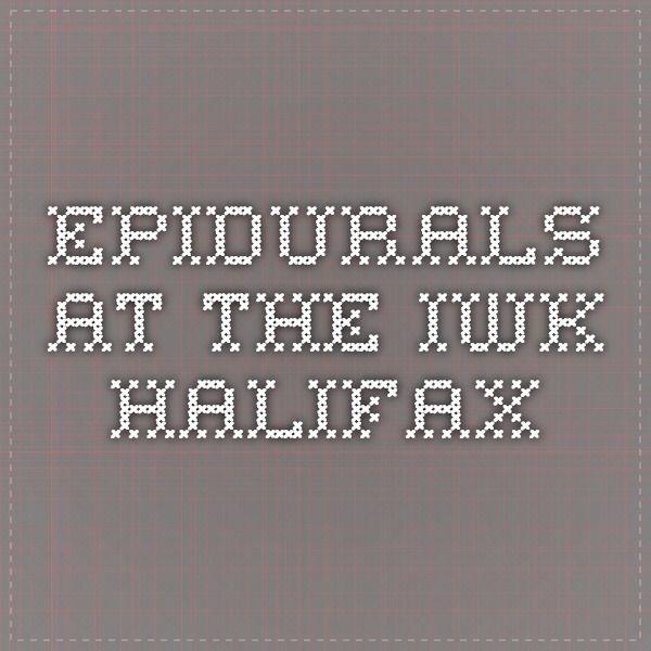 Epidurals at the IWK Halifax