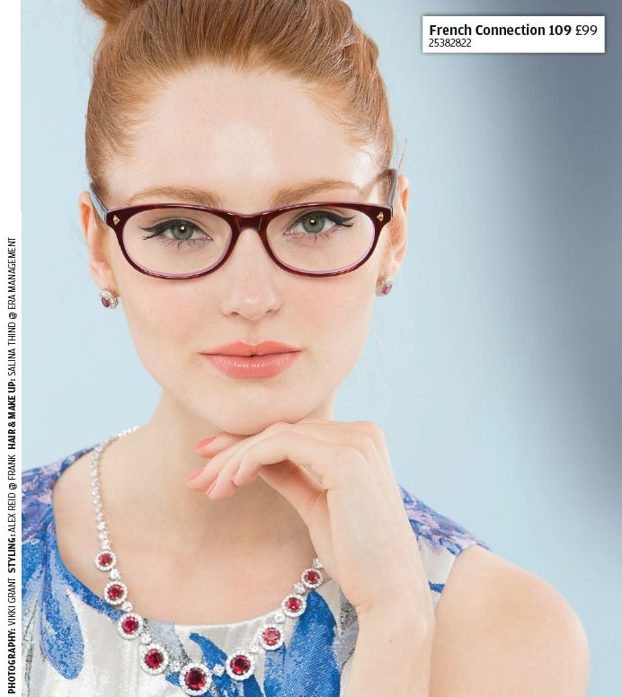 Wow factor - Gorgeous ruby coloured glasses by French Connection