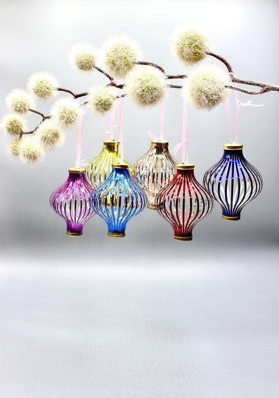 6 Vintage Threaded Balls Christmas Christmas Ornaments Holiday