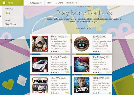 Kabar gembira datang dari Google Play Store. Mulai hari ini 7 Agustus, aplikasi game populer di Google Play bisa didownload secara gratis.
