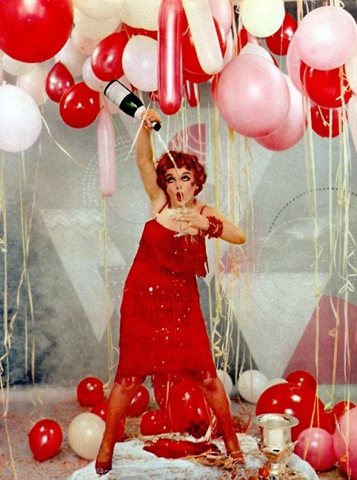 marilyn monroe as clara bow by richard avedon, 1958.: Richard Avedon, Marilyn Monroe, Vintage Pictures, Clara Bows, New Years Parties, Photo Booths, Pink, New Years Eve, Balloon