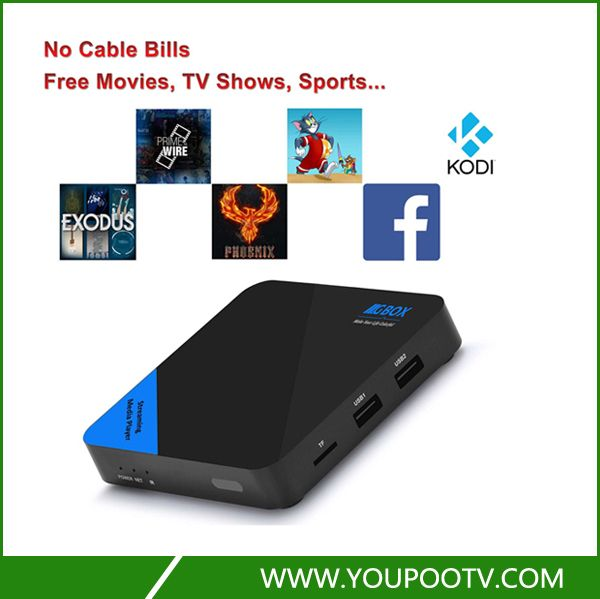 Quad Core Android TV Box Fully Loaded Streaming Media Player with many Free Moives and TVs