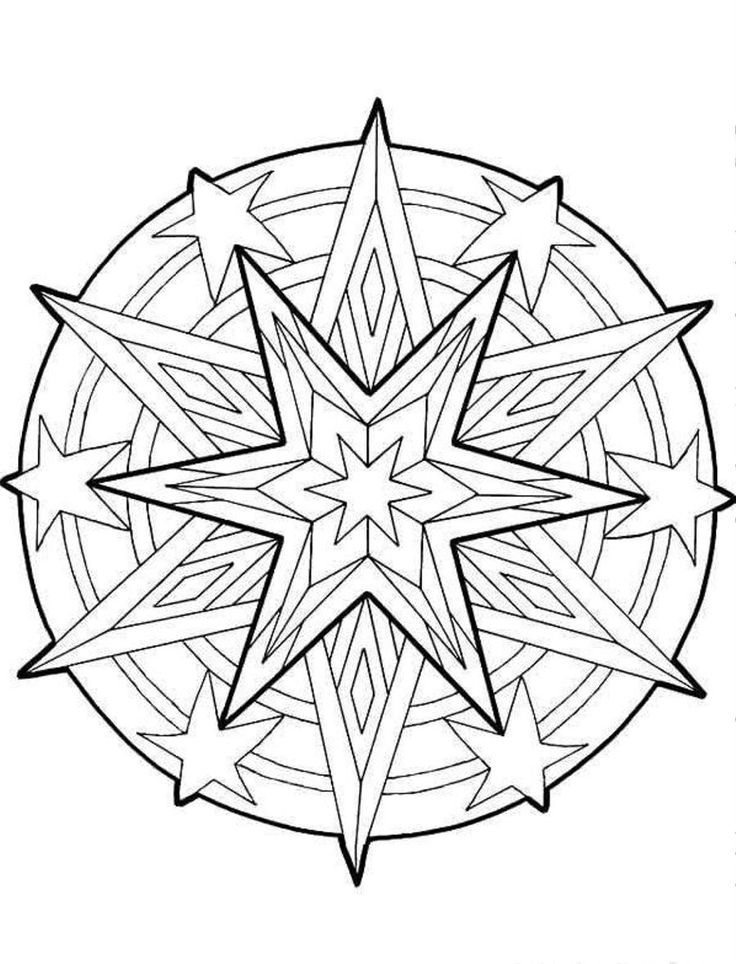 christmas mandala | Search Results | TheColoringPics.com