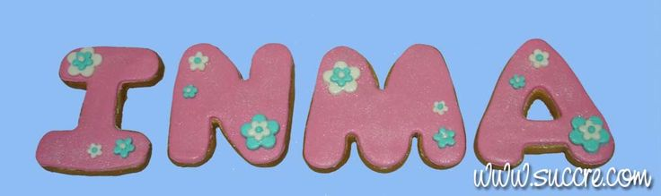 Letters Cookies - Name of cookies - Nombre de galletas: Inma - Letras de galleta
