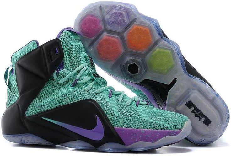 Buy Nike LeBron 12 Teal/Court Purple-Black Mens Basketball Shoes For Sale  from Reliable Nike LeBron 12 Teal/Court Purple-Black Mens Basketball Shoes  For ...